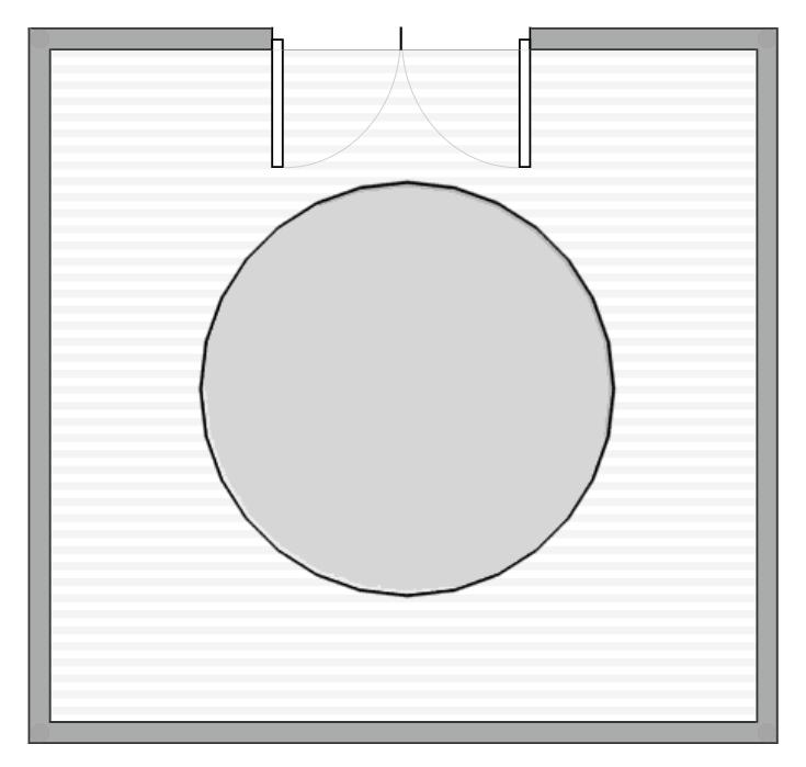 Front Door With Round Rug